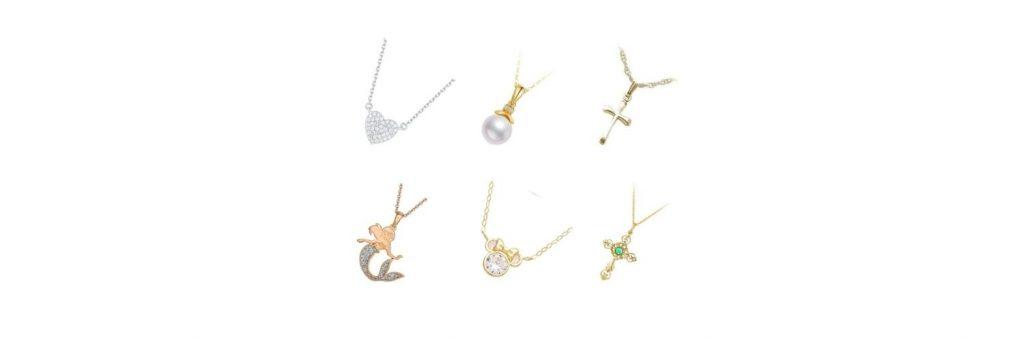 cadenas de oro para niños y niñas, de oro amarillo, blanco y rosa, de 10, 14 y 18k, con dijes